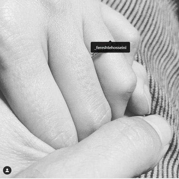 نوید محمدزاده و فرشته حسینی ازدواج کردند + عکس