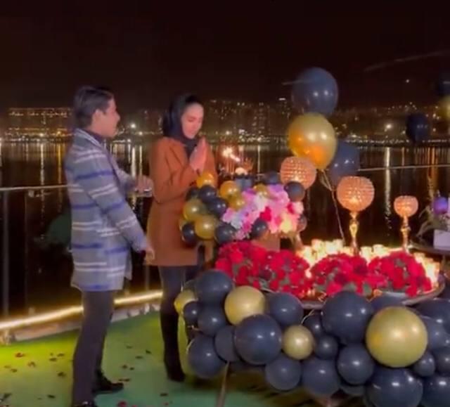 جشن تولد همسر مهدی قایدی