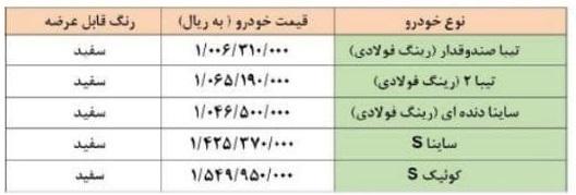 فروش فوق العاده سایپا در خرداد 1400