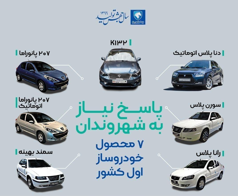 7 محصول جدید ایران خودرو در سال 99