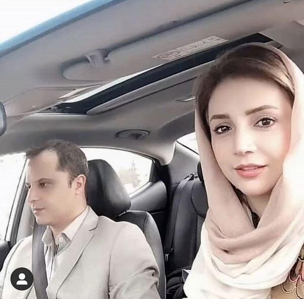 سلفی شبنم قلی خانی و همسرش