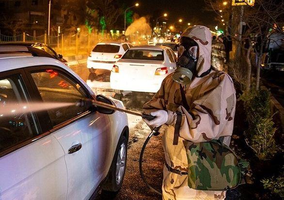 ضدعفونی کردن گسترده خیابان های تهران (تصاویر)