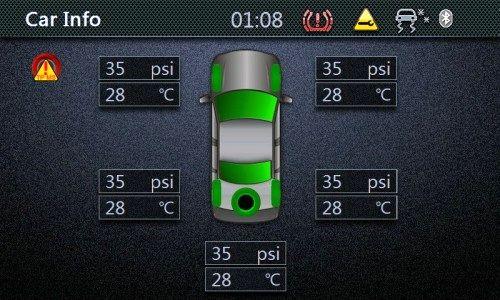 باد لاستیکها برای حمل مسافران و بار تنظیم کنید. فشار لازم برای هر خودرویی در راهنمای آن نوشته شده است.