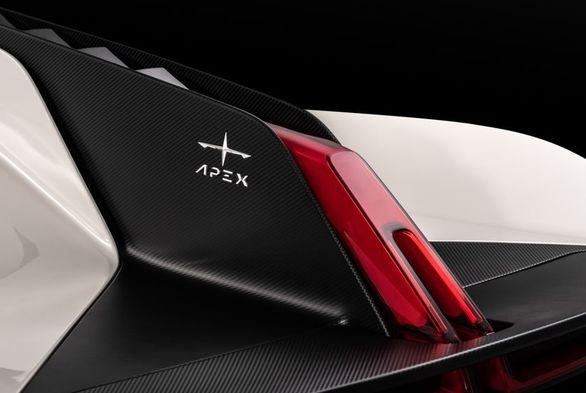 ایپکس AP-0 خودرویی فضایی با بال های کوسه ای
