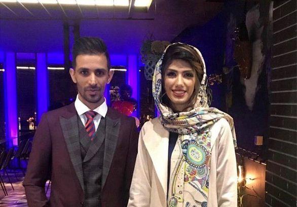 تجلیل سپاهان از تازه عروس و داماد باشگاه + عکس