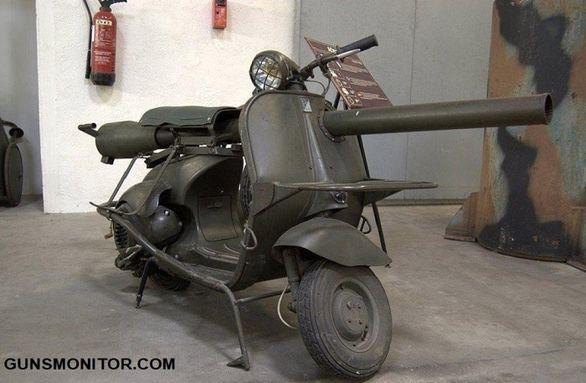 تبدیل موتورسیکلت وسپا به ماشین جنگی