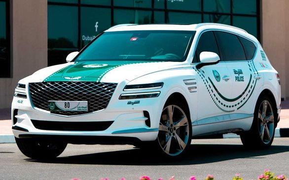 جنسیس GV80 خودروی جدید پلیس دبی