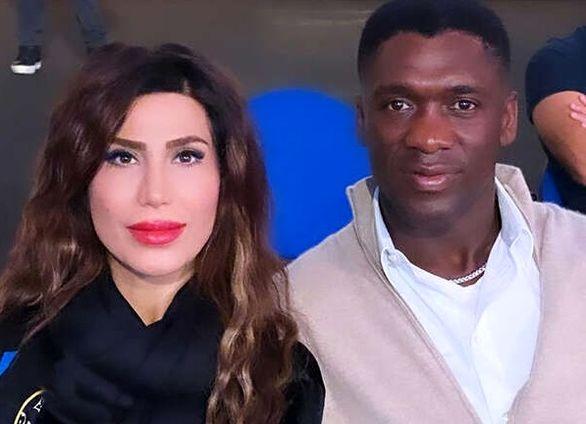 سیدورف و همسر ایرانی اش، مهمانان ویژه دیدار ایران - امارات + عکس