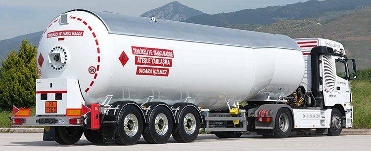 lpg trailer نفت کش تانکر
