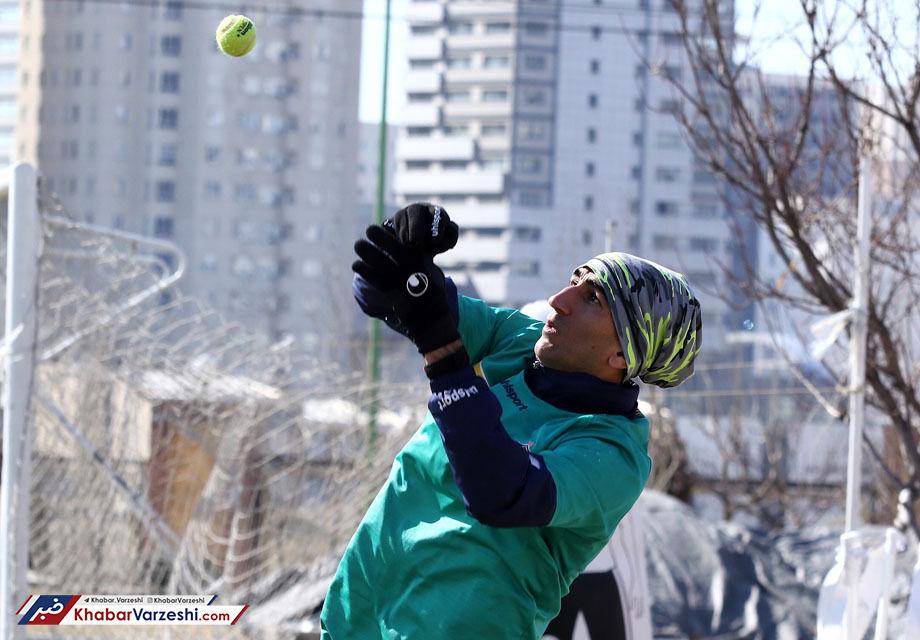 عکس| تمرینات خاص آقای خوشتیپ پرسپولیس برای بیرانوند