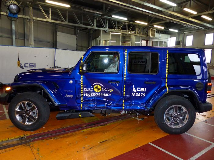 jeep wrangler ANCAP crash test