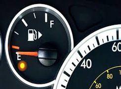 میزان پیمایش خودروهای داخلی بعد از روشن شدن چراغ بنزین