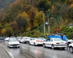 ترافیک سنگین در جاده چالوس