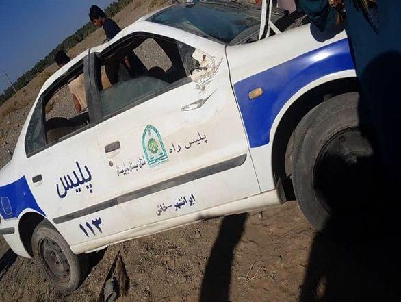 تیراندازی افراد مسلح به خودروی پلیس راه در ایرانشهر + عکس