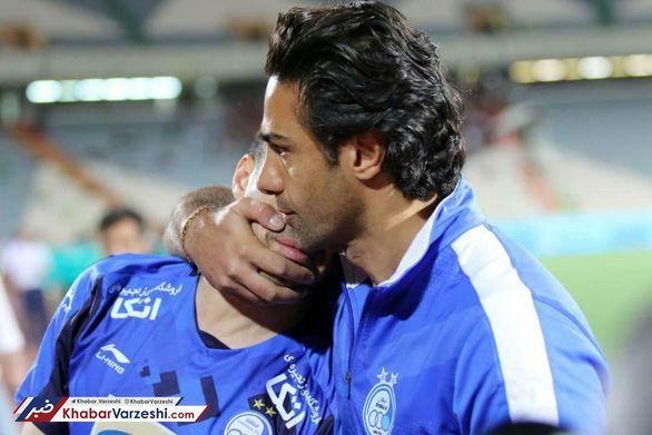 اشک های خسرو حیدری در آغوش فرهاد مجیدی (عکس)