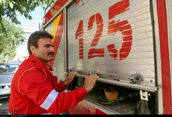 فروریختن ساختمانی بر اثر انفجار در تهران