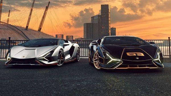 توزیع دو خودرو سوپر اسپرت هیبریدی لامبورگینی در انگلیس